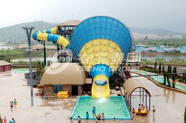 Interesting big Fiberglass Water Slides for 4 persons / time
