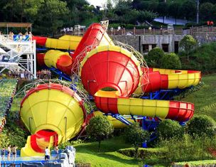 Cina Ashland / DSM Resin Fiberglass Water Slide Tantrum Valley Water Park Rides 16m pemasok