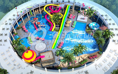 Trend Hotspring Waterpark Project, Fiberglass Water Park Equipment / Customized Aqua Park Project